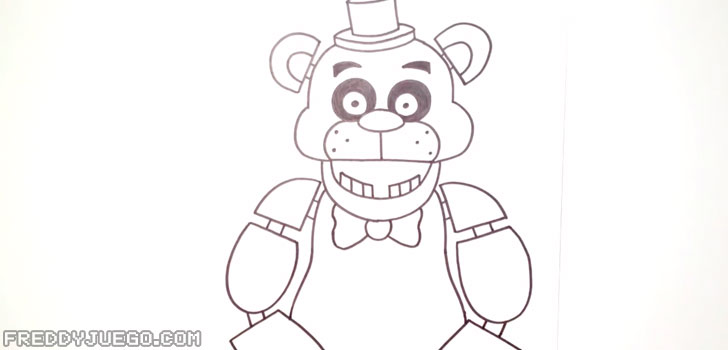 Dibujar el Cuerpo y los Brazos de Freddy Fazbear