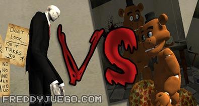 Slenderman VS Freddy Fazbear